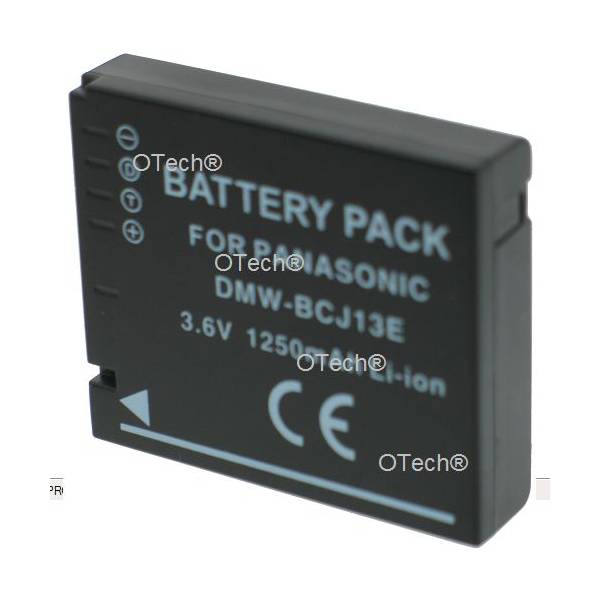 Otech Batterie photo numerique pour PANASONIC DMW-BCJ13E 3.6V Li-Ion 1250mA