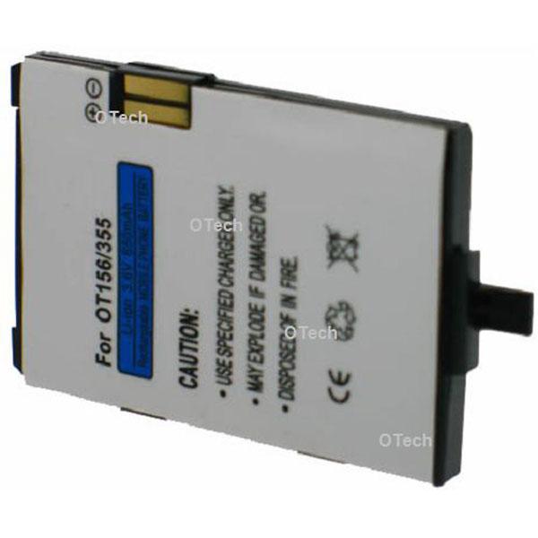 Otech Batterie de téléphone portable pour ALCATEL OT156 / 355 3.6V Li-Ion 600 / 700mAh