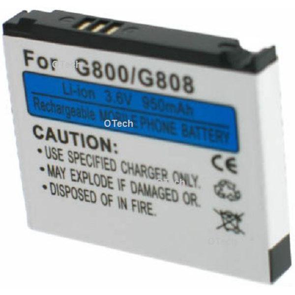 Otech Batterie de téléphone portable pour SAMSUNG G800 3.6V Li-Ion 850mAh