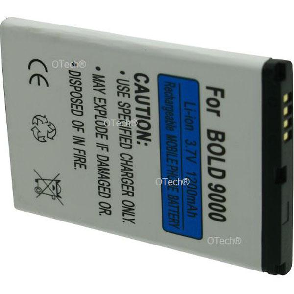 Otech Batterie de téléphone portable pour BLACKBERRY BOLD 9000 3.7V Li-Ion 1200mAh