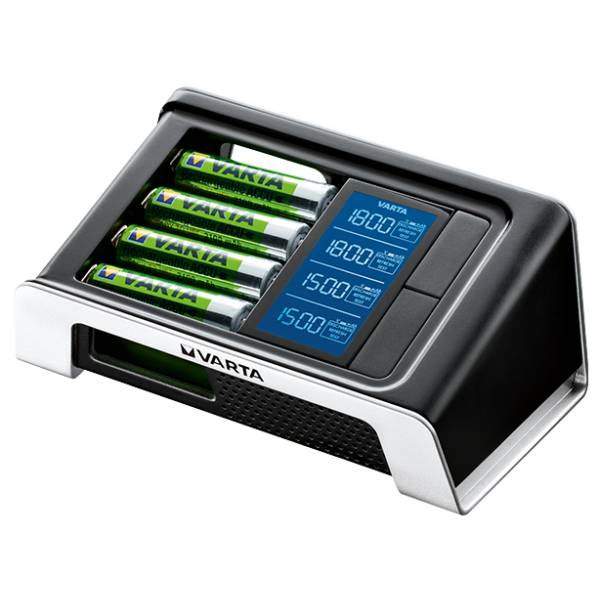 Varta Chargeur de piles rechargeables Varta LCD Ultra Rapide + 4 accu AA 2400mAh Ready to Use