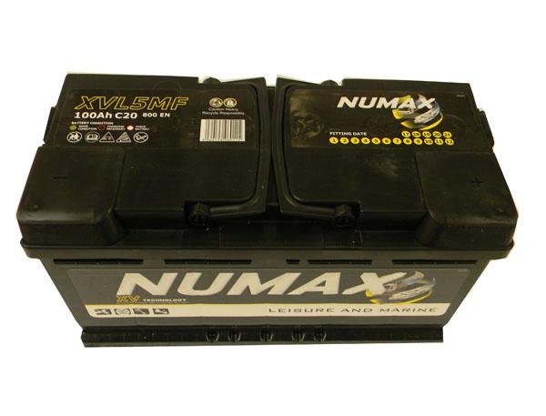 Numax Batterie de décharge lente  Loisirs/Camping-cars Numax Marine LOISIRS.XVL5MF  12V 100Ah / 800A