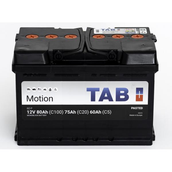 TAB Batterie de décharge lentee Loisirs/Camping-Cars TAB Motion L3 60 P 12V 80/75/60Ah