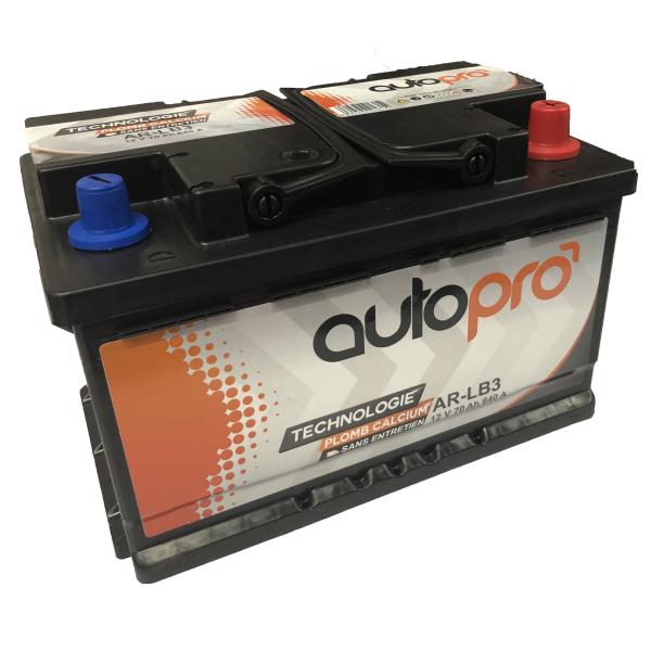 Autopro Batterie AUTOPRO 1er prix SMF AR-L3B  70AH 640 AMPS 278x175x175 +D