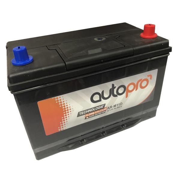 Autopro Batterie AUTOPRO 1er prix SMF AR-M11D  91AH 800 AMPS 306x173x225 +D