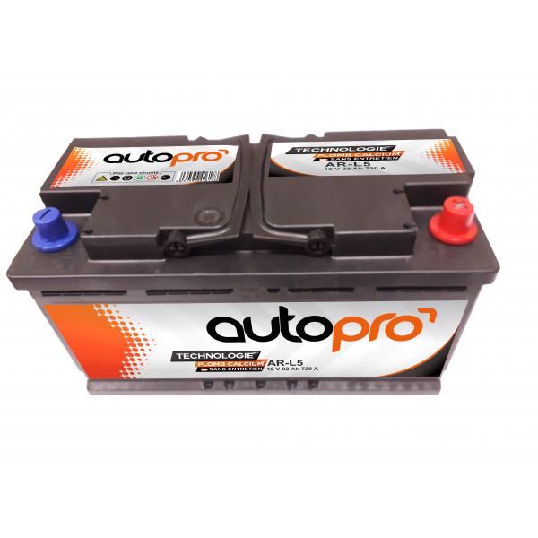 Autopro Batterie AUTOPRO 1er prix SMF AR-L5  92AH 720 AMPS 353x175x190 +D