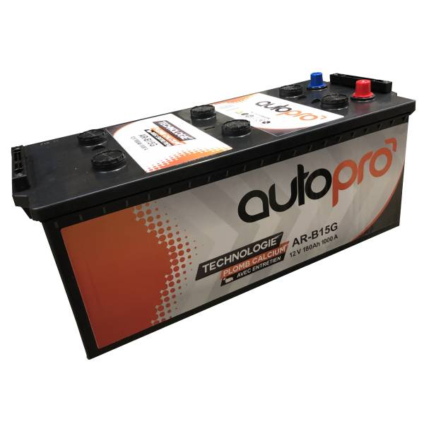 Autopro Batterie AUTOPRO 1er prix AR-B15G  180AH 1000 AMPS 513x223x223 +G