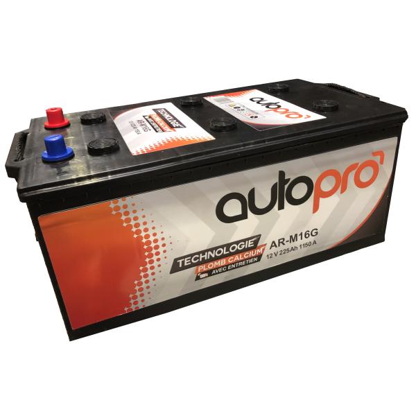 Autopro Batterie AUTOPRO 1er prix AR-M16G  225AH 1150 AMPS 513x276x242 +G