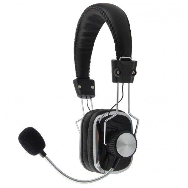 eco-life casque audio hifi avec microphone pour jeux ou communication