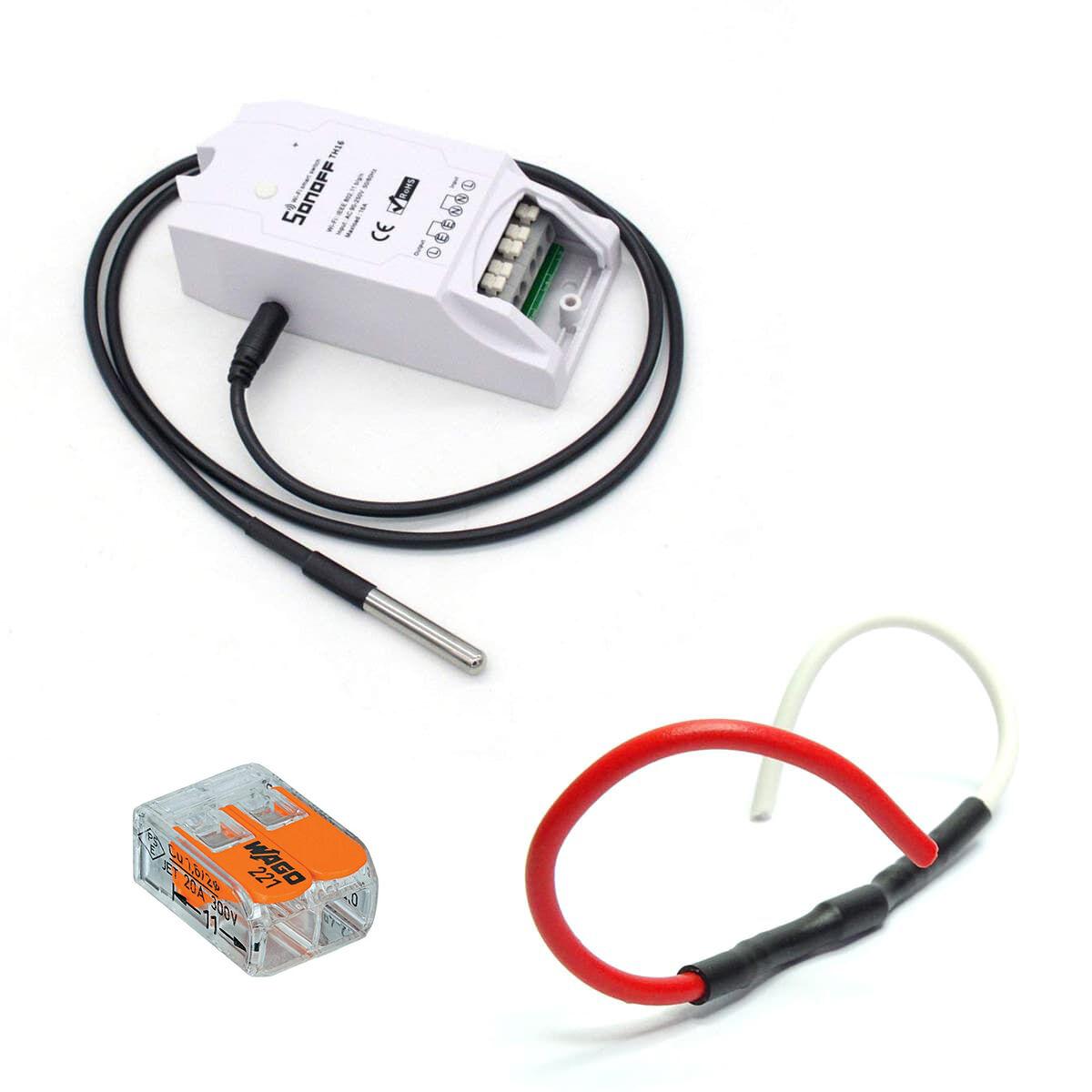 Sonoff Kit de gestion de chauffage fil pilote WiFi avec sonde de température