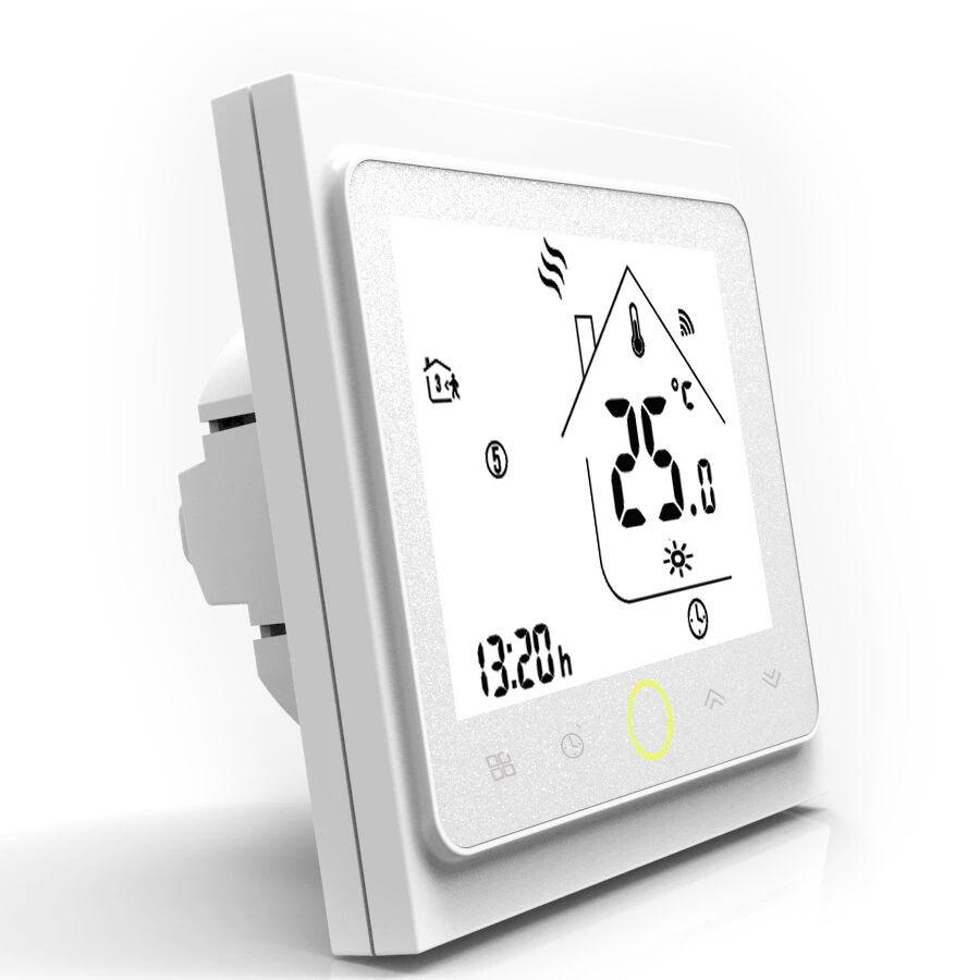 BECA Thermostat connecté BHT-002 compatible Alexa et Google Home couleur blanc - BECA