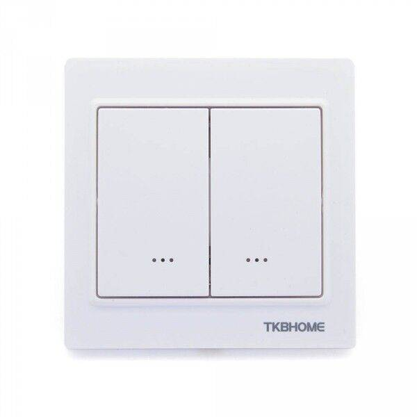 TKB Home Double interrupteur on/off Z-Wave Plus Blanc - TKB Home