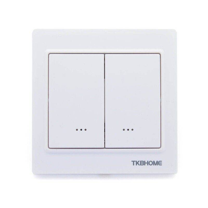 TKB Home Double interrupteur deux charges Z-Wave Plus blanc - TKB Home