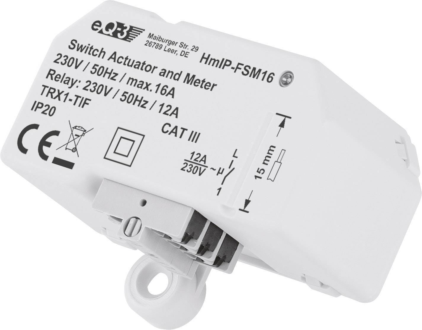 Homematic Module On/Off sans fil avec mesure de la consommation 16A - Homematic Ip