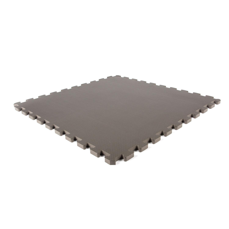 Planet Caoutchouc Tapis de jeu en mousse gris foncé 620x620x14mm (4 dalles)