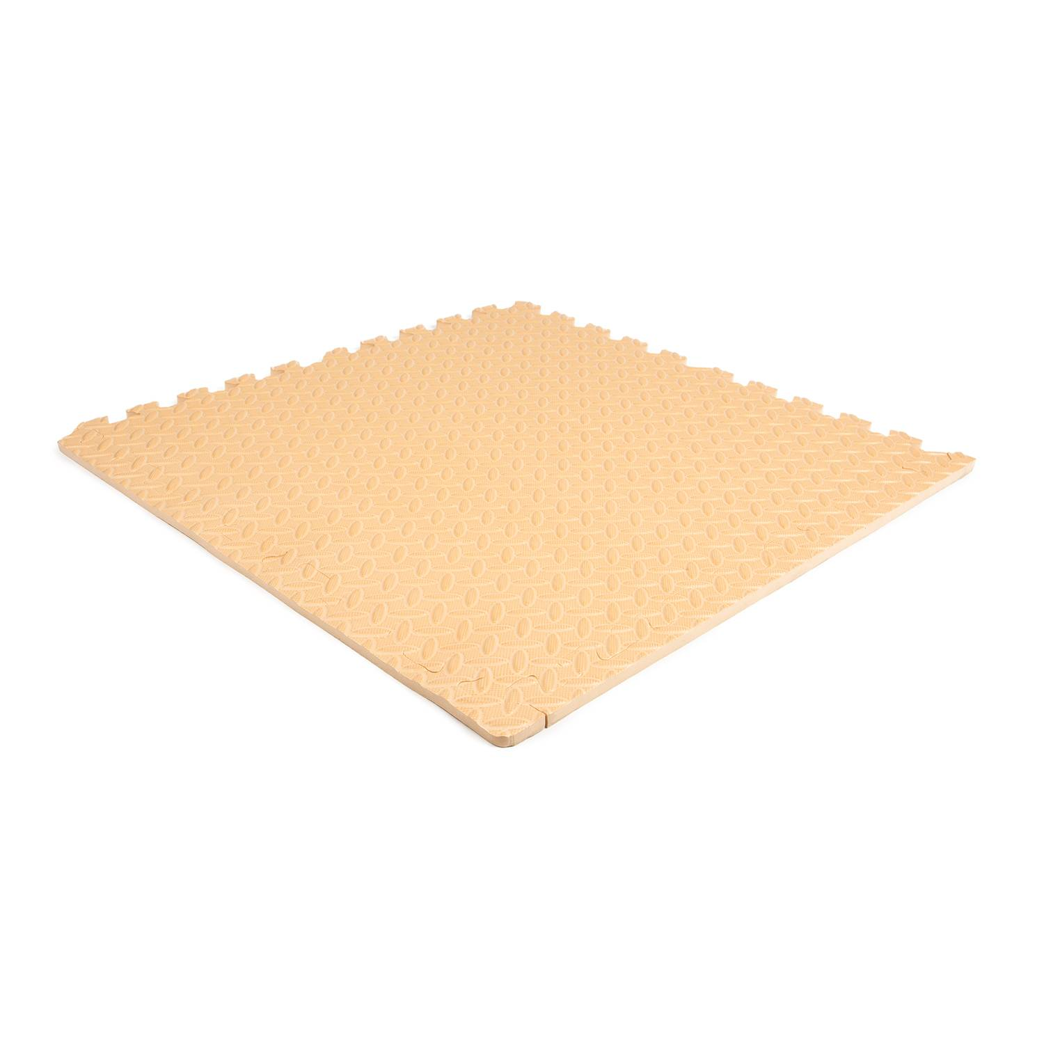 Planet Caoutchouc Dalle en mousse checker crème 620x620x12mm (4 dalles + 8 coins/bords)