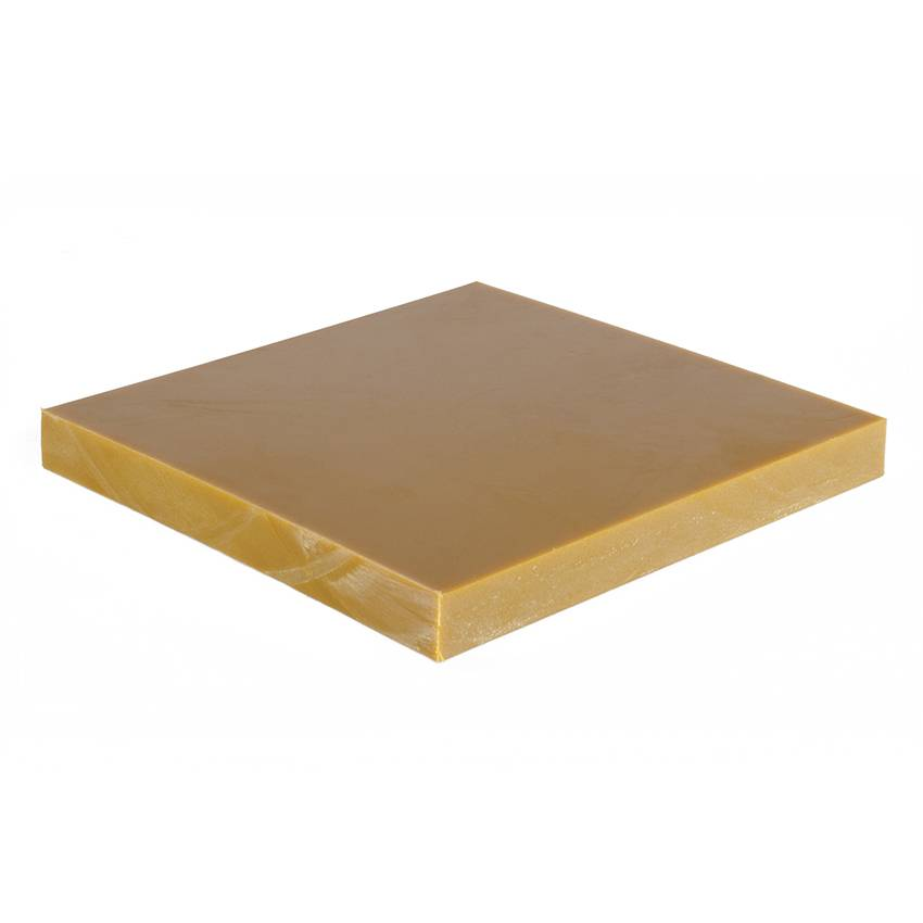 Planet Caoutchouc Plaque polyuréthane blond 15mm - 2x1m 70° Shore