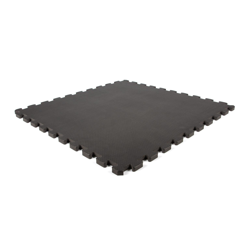 Planet Caoutchouc Tapis de jeu en mousse noir 620x620x14mm (4 dalles)