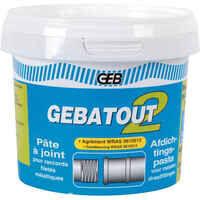 Plomberie-pro Pâte Gebatout pâte à joint verte pour filetés métalliques en sanitaire et plomberie 500g GEB
