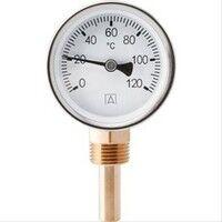 Plomberie-pro Thermomètre Radial 0-120°C D=63mm. Tube fileté M1/2'' L=40