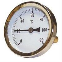 Plomberie-pro Thermomètre Axial 0-120°C D=63mm. Tube fileté M1/2'' L=40