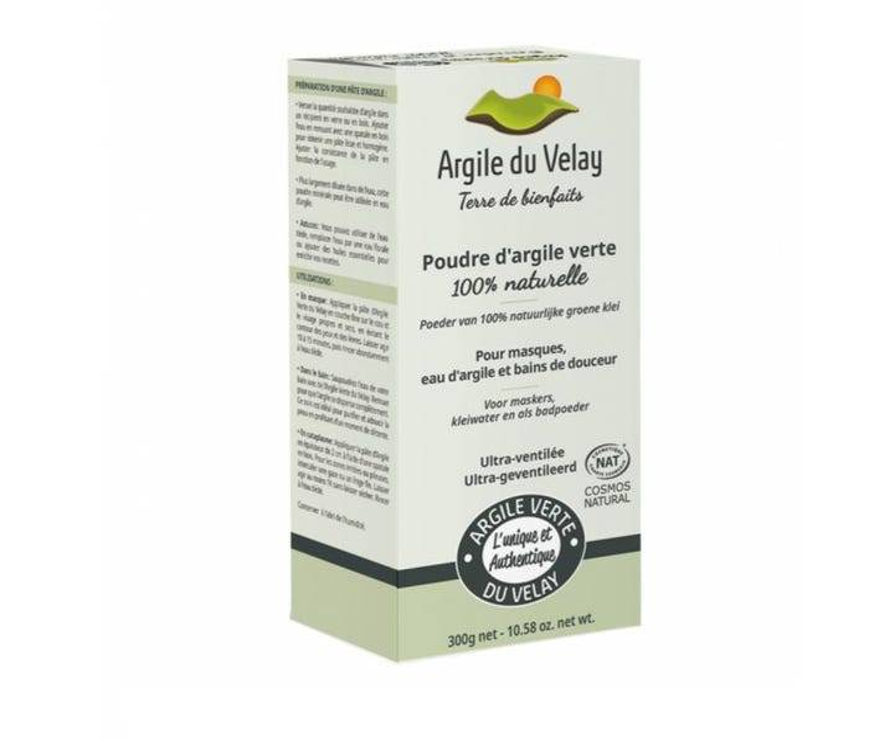 ARGILE DU VELAY Poudre d'Argile Verte 100% Naturelle, 300g