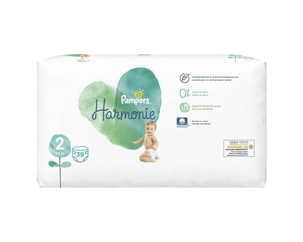 PAMPERS Harmonie - Couches Taille 2, 39 unités