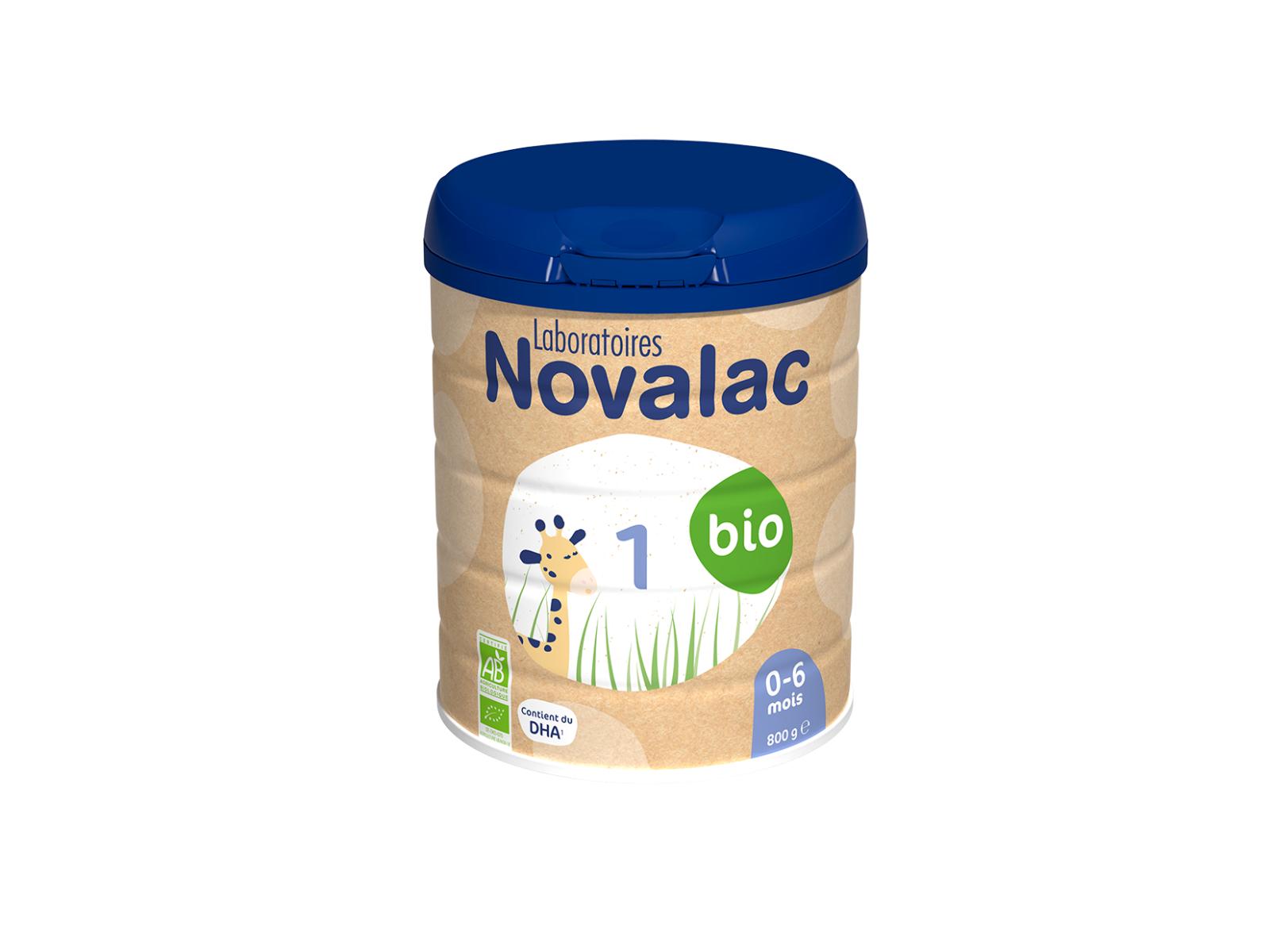 NOVALAC Lait Infantile 1er Age Bio 0-6 mois, 800g