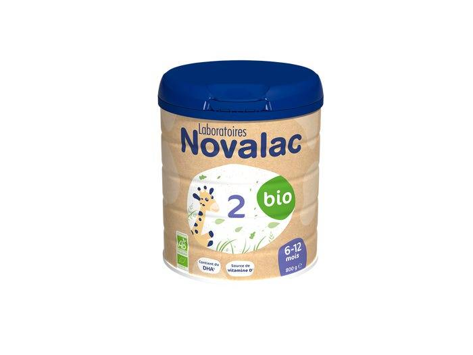 NOVALAC Lait Infantile 2eme Age Bio 6-12 mois, 800g
