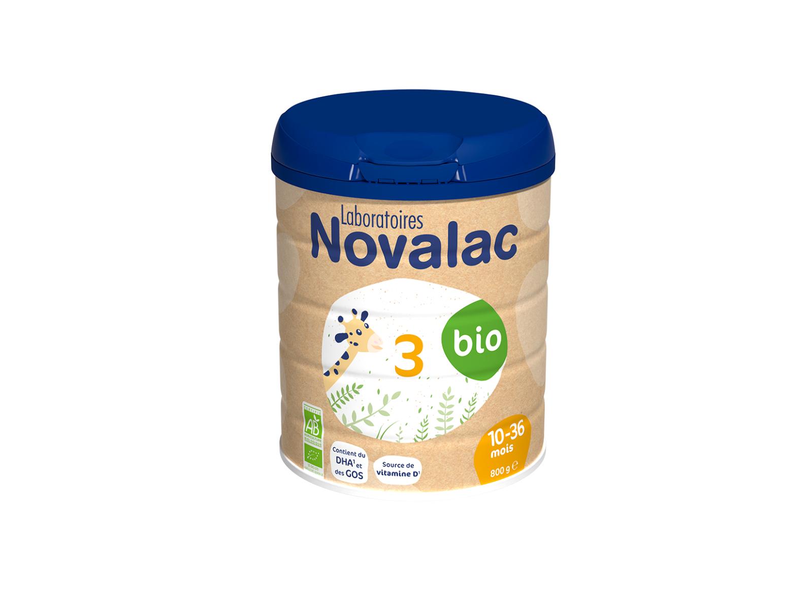 NOVALAC Lait de Croissance 3eme Age Bio 10-36 mois, 800g