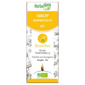 HERBALGEM Sirop Respiration Bio, 150ml - Publicité