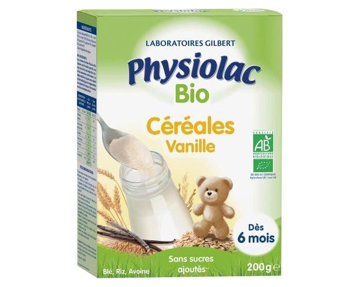 PHYSIOLAC Céréales Bio Vanille 6 mois, 200g