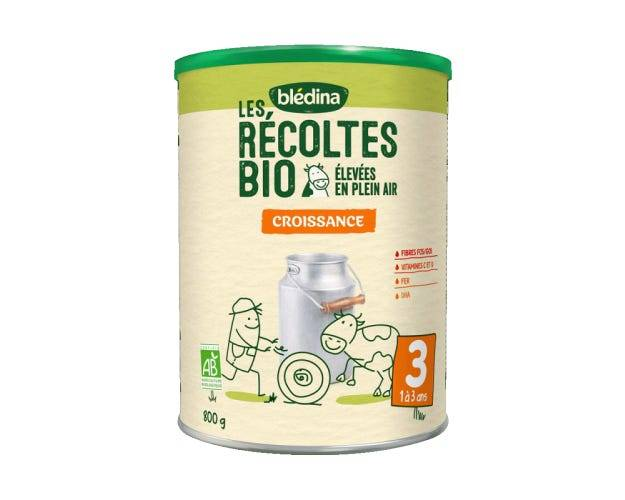 BLéDINA Lait de Croissance - Les Récoltes Bio - 3ème âge, 800g