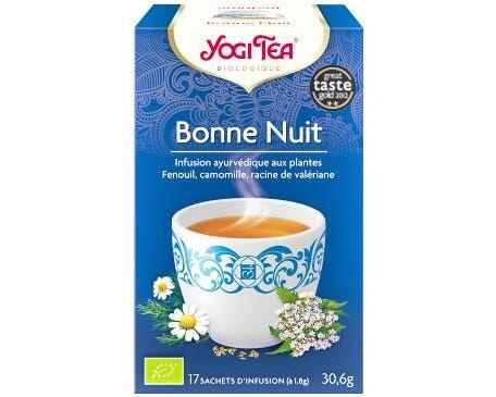 YOGI TEA Bonne nuit - infusion ayurvédique aux plantes, 17 sachets