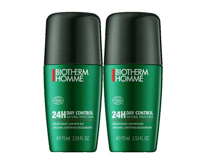BIOTHERM HOMME BIO HOMME - Déodorant écologique Day Control Natural protect Roll-On Bio, 2x75ml