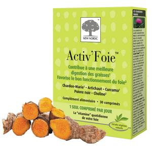 NEW NORDIC Activ'foie, 30 comprimés - Publicité