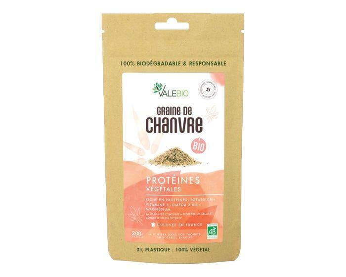 VALEBIO Graine de Chanvre Bio, 200g