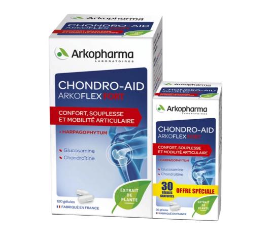 ARKOPHARMA Chondro-Aid Arkoflex® Fort, Articulations, à l' Harpagophytum, 120 gélules + 30 gélules