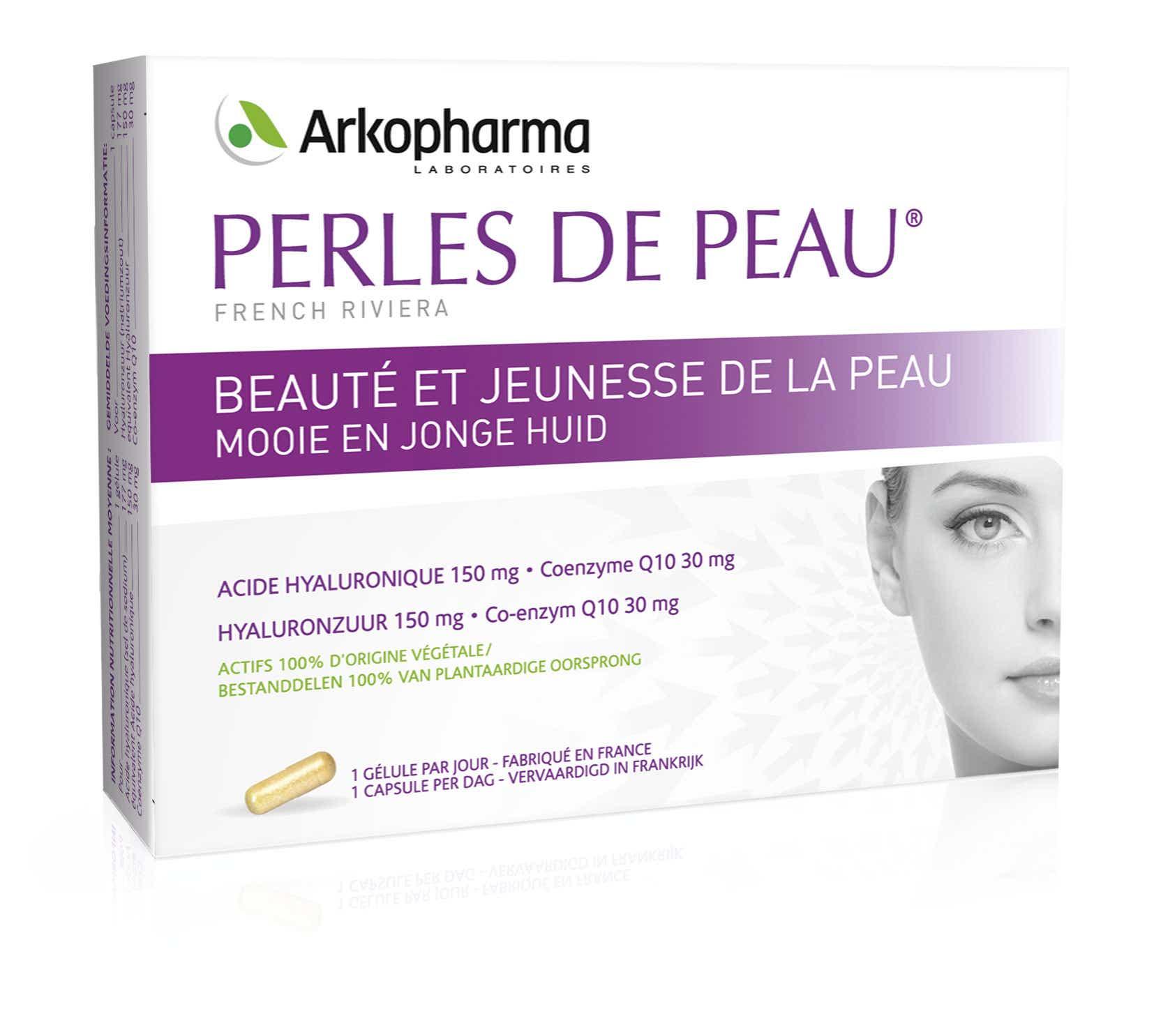 ARKOPHARMA Perles De Peau® Acide Hyaluronique Coenzyme Q10, 30 gélules