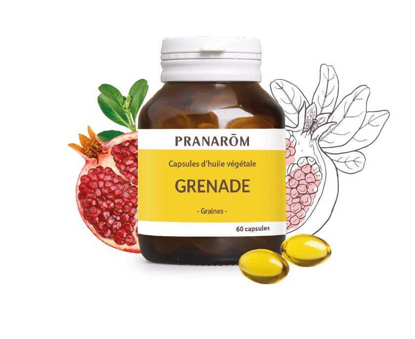 PRANAROM Huile Végétale Grenade, 60 capsules