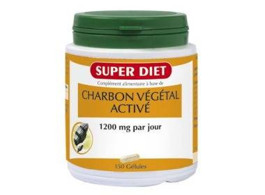 SUPERDIET Charbon végétal activé, 150 gélules