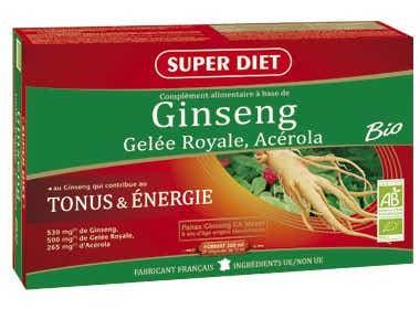 SUPERDIET Ginseng Gelée Royale Acérola Bio 20 ampoules