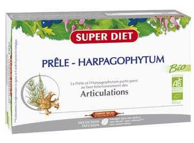 SUPERDIET Prêle- Harpagophytum extrait fluide 20 ampoules