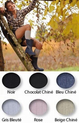 thuasne Chaussettes de contention femme Simply Coton Thuasne Coton ultra confort, 4 coloris , Classe 2 (Gris Bleuté)