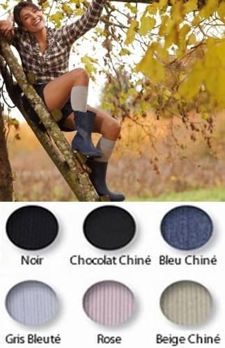 thuasne Chaussettes de contention femme Simply Coton Thuasne Coton ultra confort, 4 coloris , Classe 2 (T4: tour de cheville 26-29 cm, tour de mollet 37-46 cm)