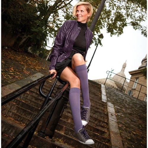 thuasne Chaussettes de contention femme Simply Coton Fin Thuasne Coton très fin, 8 coloris , Classe 2 (Parme grisé)
