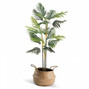 IDMarket Palmier artificiel hauteur 150 cm plante avec pot - Publicité
