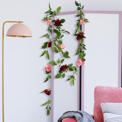IDMarket Guirlande de 13 roses a...
