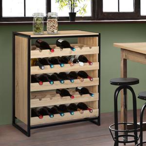 IDMarket Etagère range-bouteilles DETROIT design industriel casier à vin - Publicité