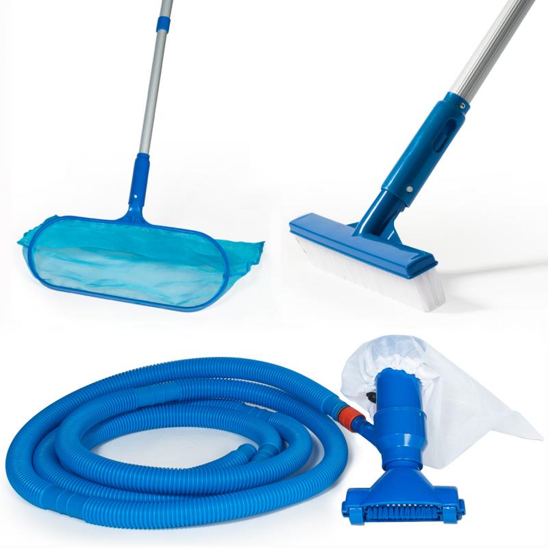 """IDMarket """"Kit d'entretien pour piscine avec 5 accessoires de nettoyage"""""""